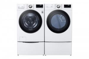 LG Electric Laundry Pair - Front Load (White)
